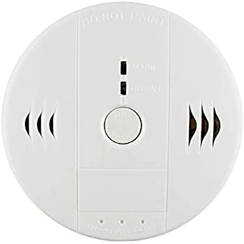 Shackcom Combination Smoke and Carbon Monoxide Detector Alarm, Protect Your Home from Fire and Gas Leaks, Even When Youre Away, Battery Operated (Second ...