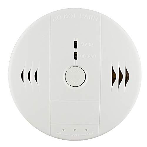 Gas Leak Carbon Monoxide - Shackcom Combination Smoke and Carbon Monoxide Detector Alarm, Protect Your Home from Fire and Gas Leaks, Even When You're Away, Battery Operated (Second Generation)