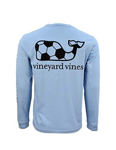 Vineyard Vines Mens Cotton Graphic T-Shirt (Soccer Whale Fill/Jake Blue, Medium)