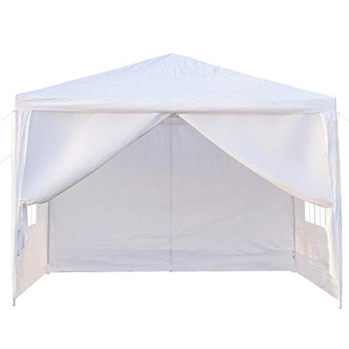 dozenla 10FT X 10FT Four Sides Waterproof Sun Shade UV Protection Cover Tent, Portable Outdoor Canopy Wedding BBQ Party Tent with Spiral Tubes (Ft Outdoor 10 Shades)