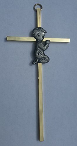 Angel's Treasure Gold and Silver Boy Wall Cross - First Communion, Baptism, Birthday Gift, Infant Blessing, Baby Wall Decor by Angel's Treasure (Image #2)