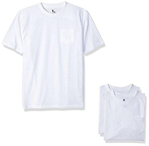 American Hawk Little Boys 3 Piece Pack Crew Neck Pocket T-Shirt, White/White/White, - Mart White T-shirt