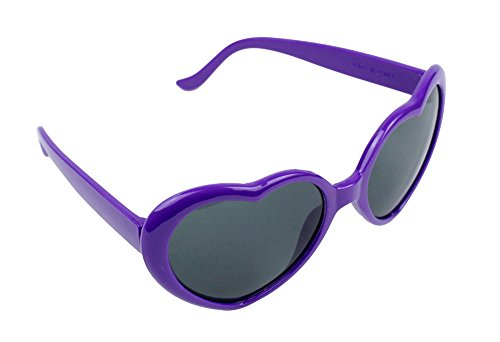 Kobwa(TM) Super Cute Heart Shaped Sunglasses Lovely Fashion Eyewear,Purple with Kobwa's - Sunglasses Lovely