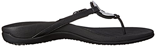 Schwarz Sandals Leather Vionic Karina Womens xZ8xwBH4q