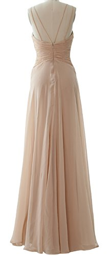 Gown MACloth Prom Chiffom Simple Elegant Dress Bridesmaid Halter Long Pistachio Formal zxzanU6AS
