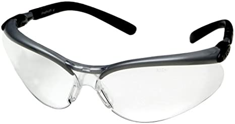 3m Anti Fog Safety Glasses Silver Black Frame Clear Lens Safety Goggles Amazon Com