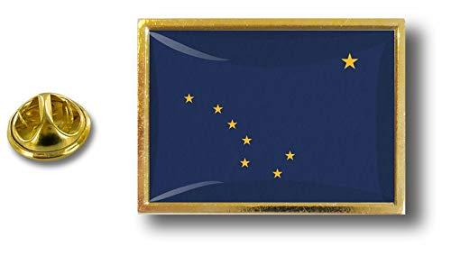 Pin Alaska bandera metal Estados Estados Clip con mariposa Pins de de Badge Pin Akacha Unidos tqRA6Hy
