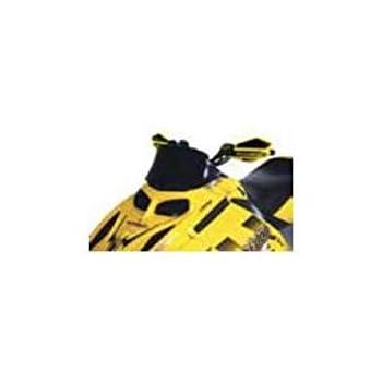 Clear//Black Fade 10183010 Powermadd Cobra Windshield 19in