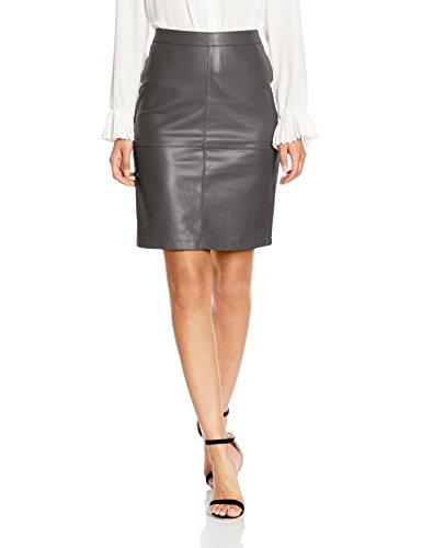 Vila Vipen New Skirt-Noos, Jupe Femme Gris (Granite Grey)