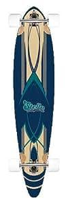 """46"""" complete 8 ply maple longboard skateboard NEW Pinstripe Blue"""