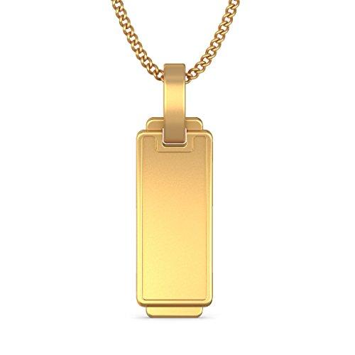 14K Or jaune 0.05CT TW Round-cut-diamond (IJ | SI) Pendentif