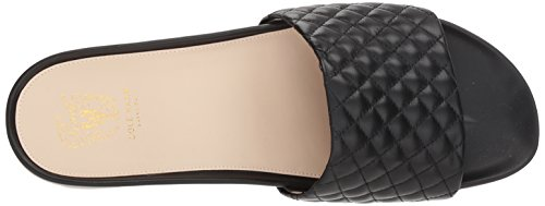 Quilted Cole Women's Haan Sandal Leather Montauk Black Slide Flat Pinch xgaOwUx