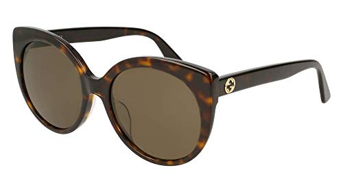 Gucci Urban GG0325SA Sunglasses 002 Havana / Brown Lens 57 mm ()