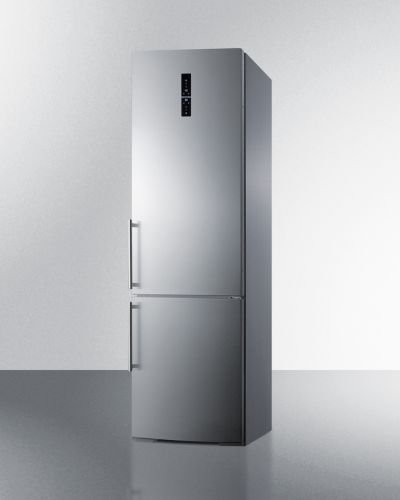 "UPC 761101053585, Summit FFBF181ESBI 24"" Bottom Freezer Refrigerator with 12.8 cu. ft. Capacity ZeroZone Deli Drawer Wine Shelf Adaptive Intelligent Technology Digital Thermostat Open Door and Temperatur"