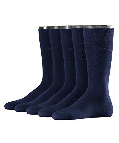 ESPRIT Herren Uni Socken - 5 Paar, Größe 40-46, versch. Farben, Baumwollmischung - Hatufreundlicher Baumwollstrumpf im 5er Pack