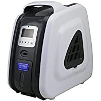 XGREEO XTY-AC-301 1-3L 93% Purity Portable Oxygen Concentrator Generator 110V/220V Air Purifier Oxygen Generator (Gray)
