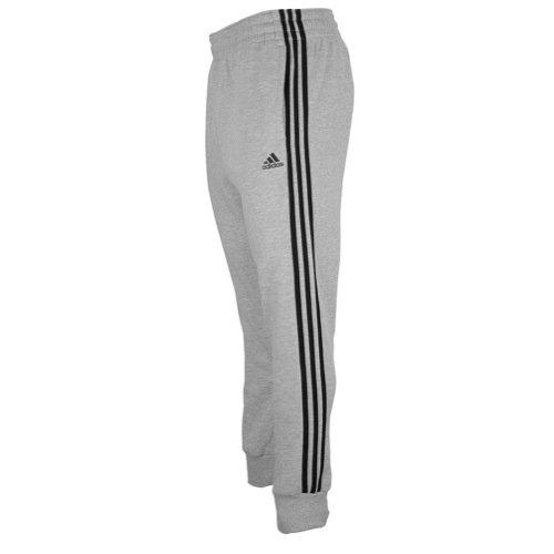 adidas Men's Slim 3-Stripe Sweatpants, Medium Grey Heather/Black, XX-Large