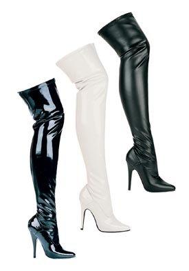 ac2b133dec8 Ellie Shoes Women's 5 Inch Heel Thigh High Stretch Boot