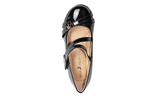 1 Wedges Dress Jodie Black Pumps Mila Heeled Shoes Litte Girls Low Girls SxSqvBZw