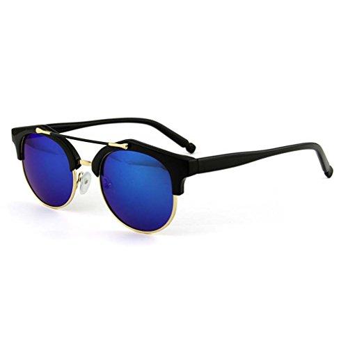 Keyhole Small Round Retro Sunglasses C4 (Translucent Resin Panels)
