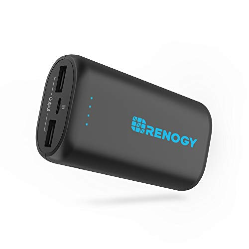 Renogy Portable Charger 10000mAh Power Bank, World's Smallest and Lightest External Battery Pack with Dual USB Ports, Mobile Charger Power Pack for iPhone, iPad, Samsung Galaxy
