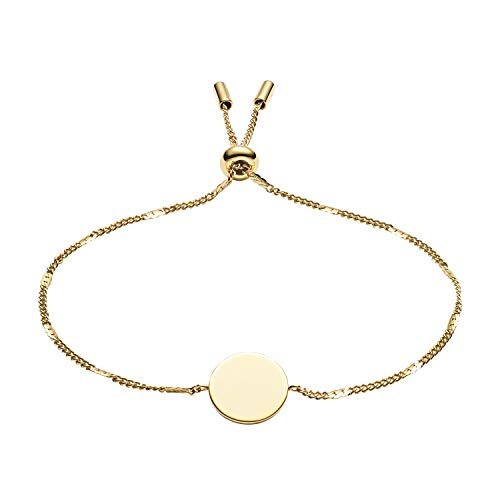 Fossil Women's Disc Gold-Tone Stainless Steel Bracelet, Gold, One Size