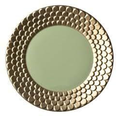 L'Objet Aegean 24kt Gold Sculpted Dessert Plate-Pear