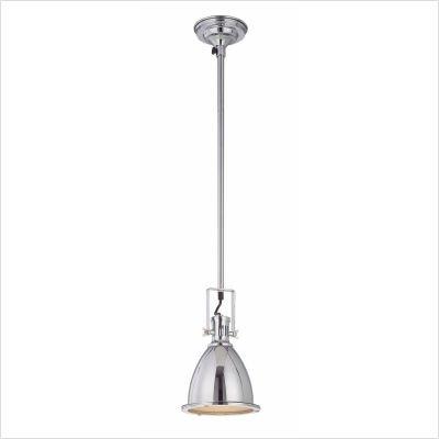 Lite Source Lighting Iron Pendant - Lite Source LS-19976C Kartik Ceiling Lamp, 48-Inch Chrome Pole