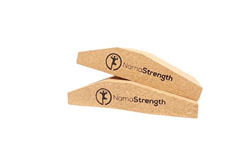 NamaStrength Yoga Cork Wrist Wedge – Yoga Wrist Support and Calf Raise Block (Set of 2)