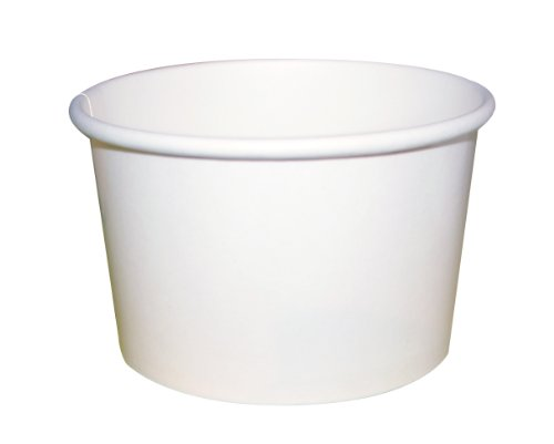 Packnwood White Cardboard Paper Soup Container Bucket, 8-...