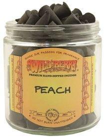 50 Wildberry Incense Cones - Peach