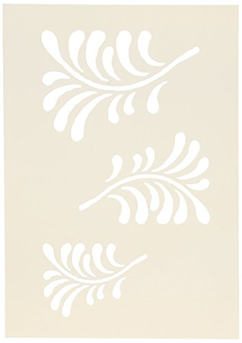 Stampers Anonymous Wendy Vecchi Studio Stencil Collection, 6.5-Inch by 4.5-Inch, 3 Flourishes - Flourish Collection