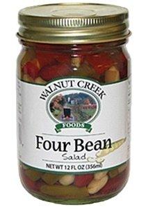 Walnut Creek Four Bean Salad 12.8 oz Glass Jar Amish Buffet