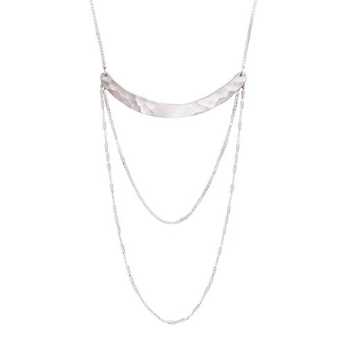 Silpada 'Avant Garde' Curved Bar Drop Necklace in Sterling Silver