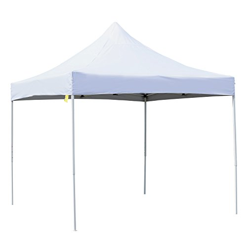 Outsunny 10′ x 10′ Easy Pop-Up Canopy Party Tent with Cathedral Style Roof – White For Sale