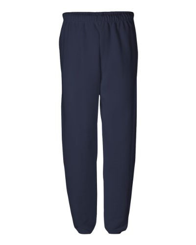 Jerzees mens 8 oz. 50/50 NuBlend Fleece Sweatpants(973)-J NAVY-XL (8 Oz Sweatpant)