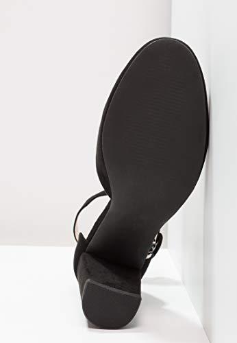Jane Mary Femmes Anna Noir Blocs Chaussures Élégantes Bord Pour Avec Talons Délicates Escarpins Sangles Field À Ondulé 8TB87qP