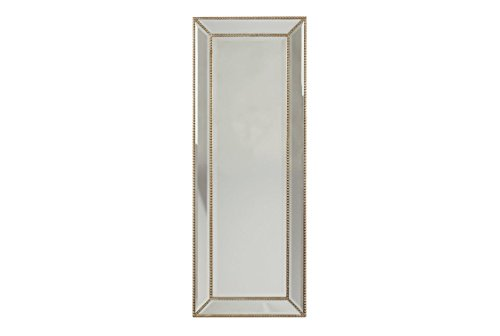 Framed Cabinet Mirror Beaded - Signature Design by Ashley Dhavala Accent Mirror Silver/Black