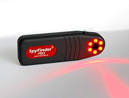SPYFINDER PRO Hidden Spy Camera Detector - Portable Pocket Sized Camera Finder Locates Hidden Camera in Your House, Office, AirBnB Rentals, Hotel Rooms, Gyms, Locker Rooms, Bathrooms, Dressing Rooms