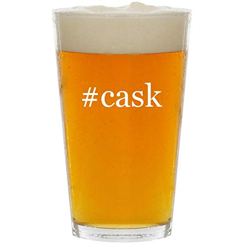 #cask - Glass Hashtag 16oz Beer Pint