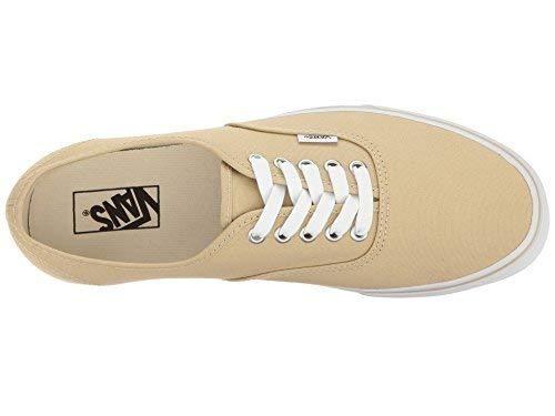 Vans Unisex Authentic Skate Shoe (6.5 B(M) US Women/5 D(M) US Men, Pale Khaki/True White)