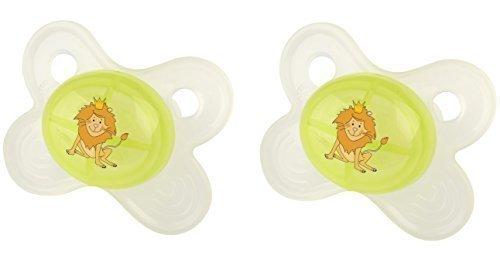 2X Okt Kids Chupete 0 + Chupete Hippo Verde Ab 0 Meses ...