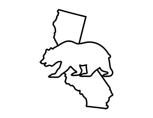 - ND060 California Golden Bear Decal Sticker | 5.5-Inches By 3.3-Inches | Premium Quality Black Vinyl