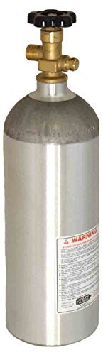 - 5 LB CO2 Aluminum Cylinder Tank New - Sherwood CGA 320 Valve, Soda System Home Brew Making (Shipped Empty)