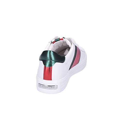 Grün Schmenger Cordones Piel Rot de Lisa para de Zapatos Mujer amp; Bianco Kennel f1wxq7U7