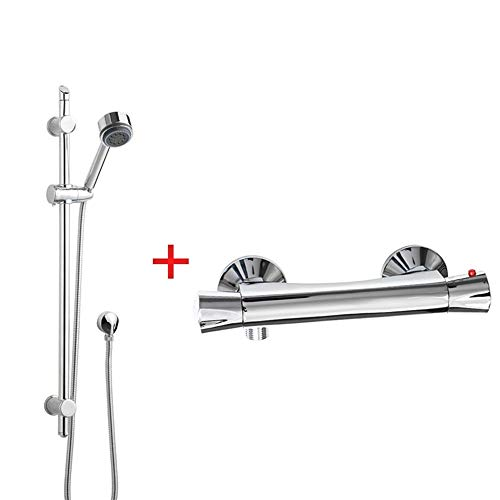 - Functional spray Waterfall Exposed Shower head Body jet column tower Shower head Rain sprinkler Solar Electric Water Heater Hot And Cold Automatic Constant Mixing Valve Wall-mounted, water-saving, bur