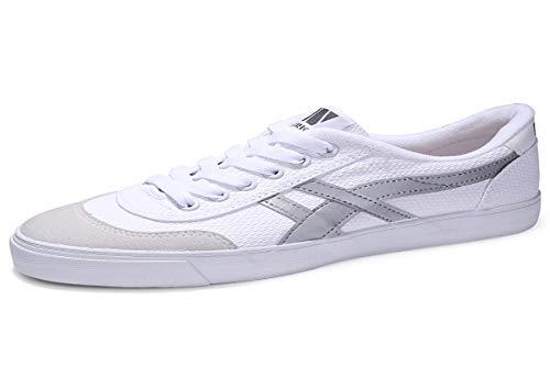 KMJBS Calzado de Hombre/Lienzo Zapatos Zapatos De Hombres Zapatos De Verano Blanco Low Zapatillas De Baloncesto Zapatillas De Deporte - Ocio.Treinta Y Cinco Blanco Thirty-five white