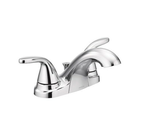 (Moen 84603 Two Adler 4 in. Centerset 2-Handle Bathroom Faucet in Chrome)