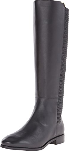 Cole Haan Women's Rockland Boot Riding, Black Leather, 7.5 B ()