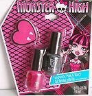 Monster High Fangtastic Pink & Black Nail Polishes with Heart File -